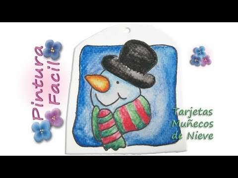 Mu ecos de pintar 1 snowman crafts manualidades de - Munecos de navidad ...