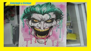 Repostagem - Coringa em aquarela || Repost - Joker (Watercolor Painting)