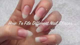 download lagu How To File Different Nail Shapes-almond, Stiletto, Coffin, Oval gratis