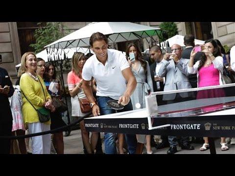 Playing Ping Pong With Rafael Nadal