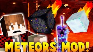 METEORS MOD | Alien Creepers, Epic New Armor & Enchants, TNT Meteors & More! (Minecraft Mods)