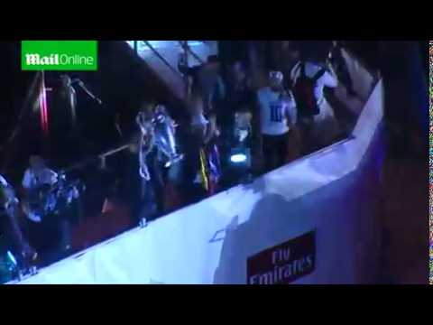 Champions League winners Real Madrid parade their trophy  Mail Online