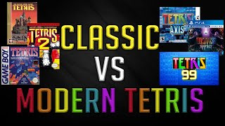 Differences between Classic and Modern Tetris