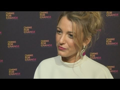Chime For Change: Blake Lively reveals her love of Beyonce and who her female role models are