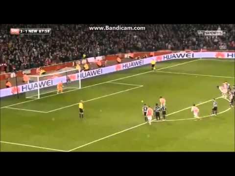 Santi Cazorla Panenka Chip Penalty Vs Newcastle