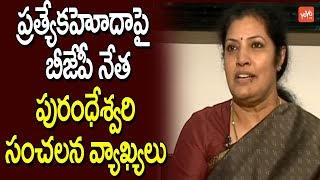 BJP Leader Purandeswari Sensational Comments About AP Special Status