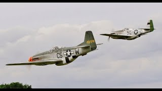 TWO 1/4.3 SCALE RC NORTH AMERICAN P-51D MUSTANGS DISPLAY AT WILLIS WARBIRDS - 2017