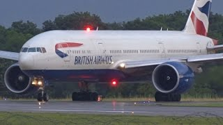 [FullHD] British Airways Boeing 777-200(ER) landing & takeoff at Geneva/GVA/LSGG
