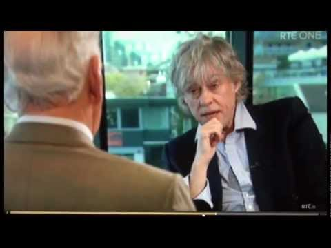 "Bob Geldof on religion- ""Jesus was a pain"" & "" fuck off Lord"". Classic quotes!"