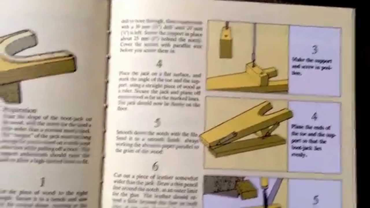 Wood projects: Wood workers manual: the boot jack - YouTube