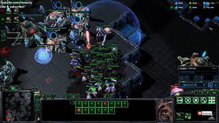 starcraft II Diamond League Zerg vs Protoss, nydus worm surprize