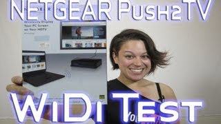 NETGEAR Push2TV Streaming Media WiDi Test with the HP Envy 6 Ultrabook