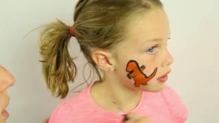 DIY Kids Face Paint - Pokemon Go Charmander Pokemon Kids Face Paint