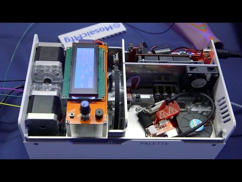 Multi-Color 3D Printing with Palette Filament Splicer