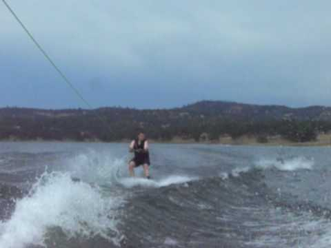 Matt wakeboarding, more air and falling