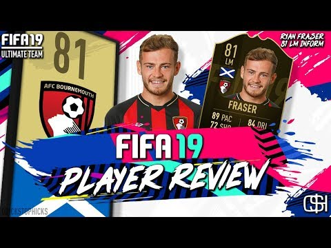 FIFA 19 RYAN FRASER (81 IF) REVIEW | 81 INFORM RYAN FRASER PLAYER REVIEW | FIFA 19 ULTIMATE TEAM