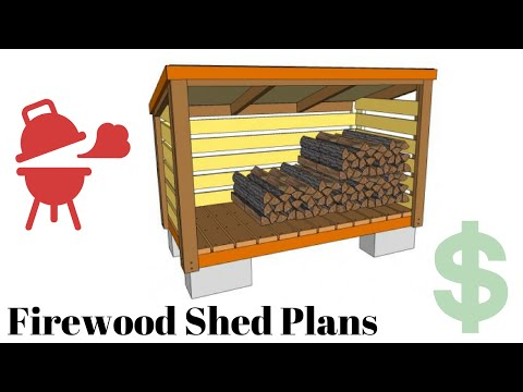 firewood storage shed kits