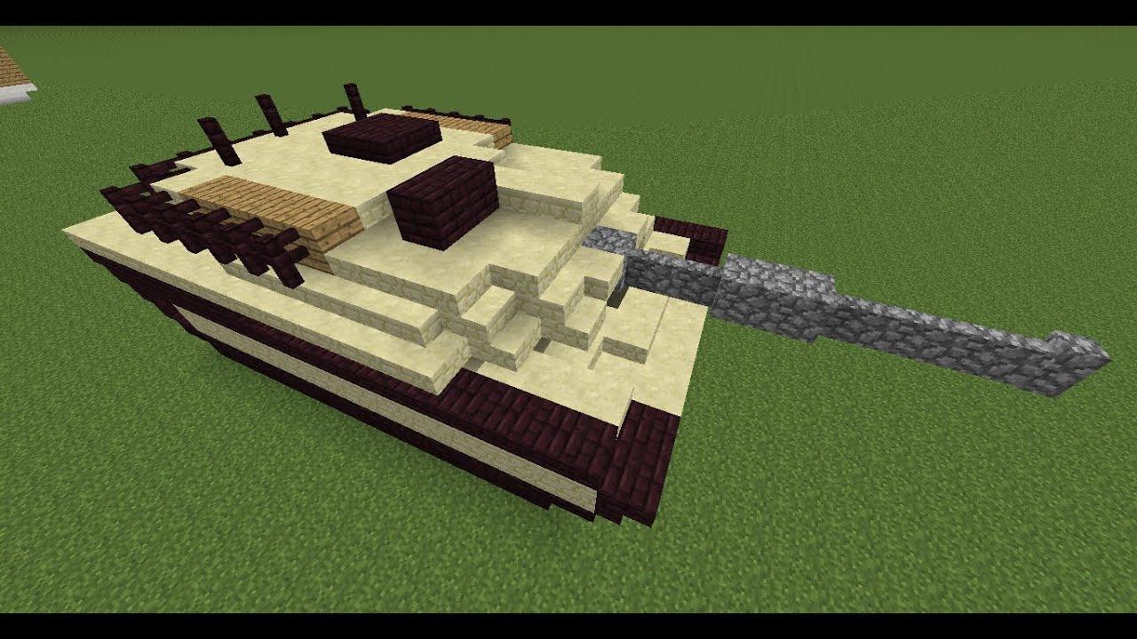 как построить танк в minecraft - YouTube
