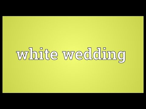 White wedding Meaning