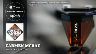 Watch Carmen Mcrae When I Fall In Love video