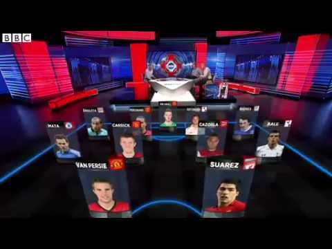 BBC Match Of The Day's Premier League Team Of The Season 2012/13