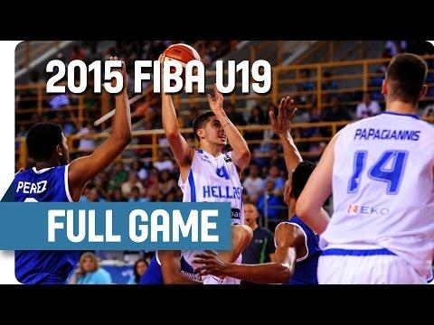 Greece v Dominican Republic - Group D - Full Game - 2015 FIBA U19 World Championship