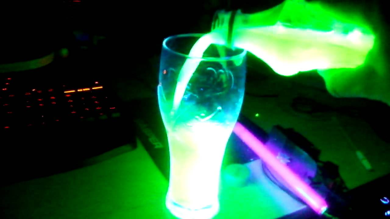 how to make glowing water