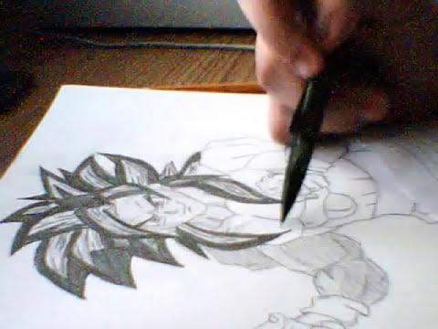 Drawing Super Saiyan 4 Goku