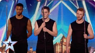 Martial arts act Synergy have some timing issues! | Britain's Got More Talent 2015