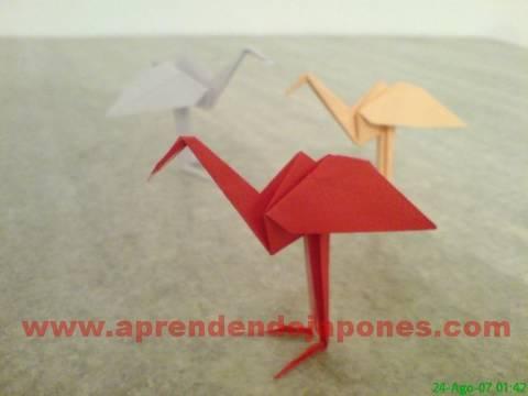Цапля оригами. Видео схема.