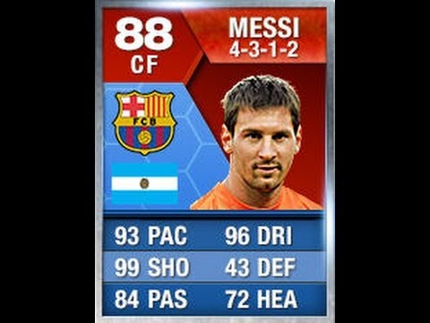 FIFA 13 SIF MESSI 88 90 91 Player Review & In Game Stats Ultimate Team