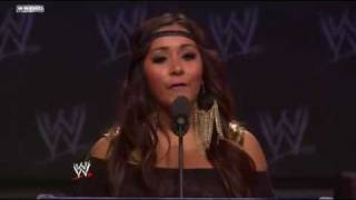WWE WrestleMania XXVII Press Conference  Nicole Snooki Polizzi