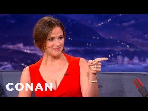Jennifer Garner Interview Pt. 1 10/03/12 - CONAN on TBS