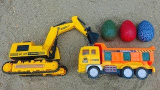 Dump truck, excavator, fire truck, cars carrying animals - G87A Toys for kids