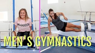 Girls Try Men's Gymnastics ft. Shawn Johnson!