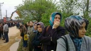 biga kahraman şehitini köyünde böğle karşıladı 25 3 2016