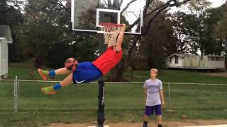 Mini hoop dunks
