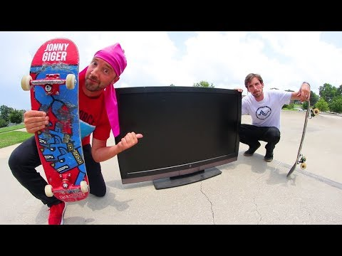 Will Skateboarding Break This? / Huge FlatScreen TV !