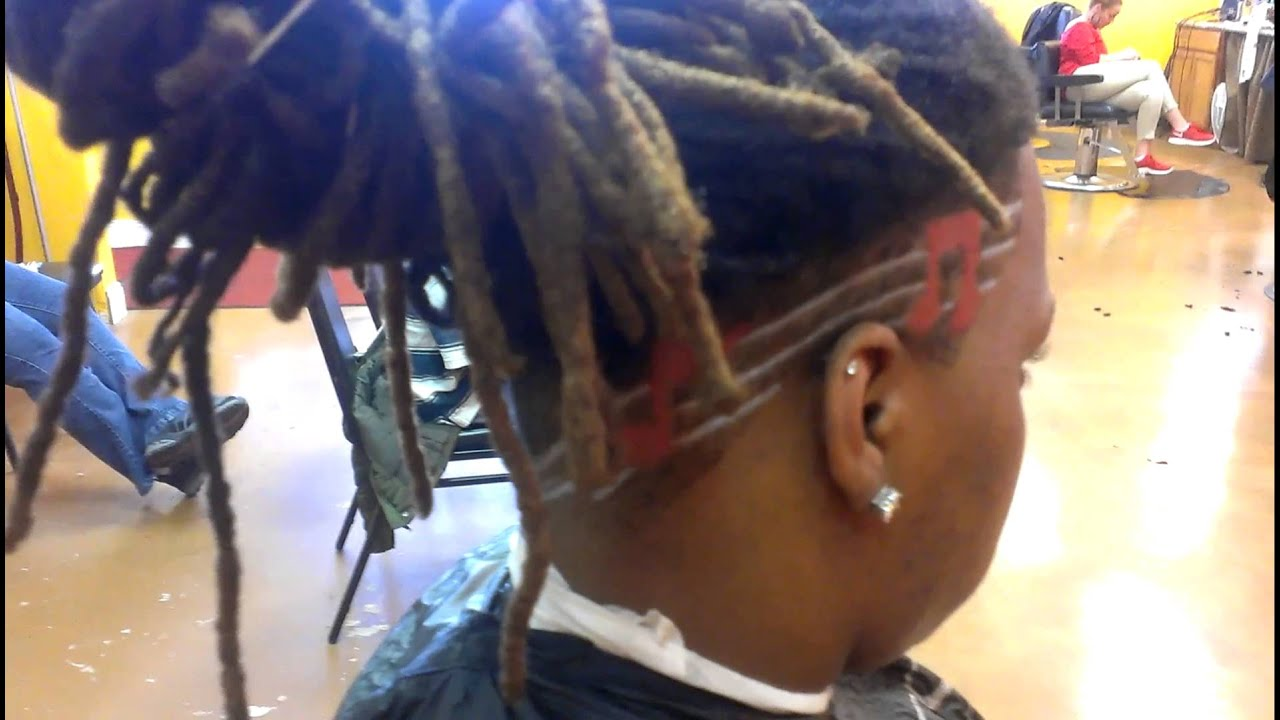 tapered sides and back Dreads With Faded Sides