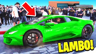 Picking Up Little Brother from School in LAMBORGHINI!