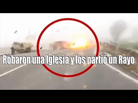 Car Struck by Lightning Lightning Strikes Car That