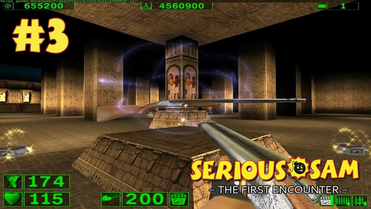 Serious Sam: The First Encounter прохождение игры - Уровень 3: Гробница Рамзеса (All Secrets Found)