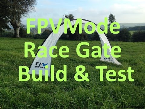 Mini Quad FPV - Build & Test FPVModel Race Gate - Air Gate!