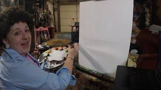 Whitney Learns Oil Painting with Bob Ross