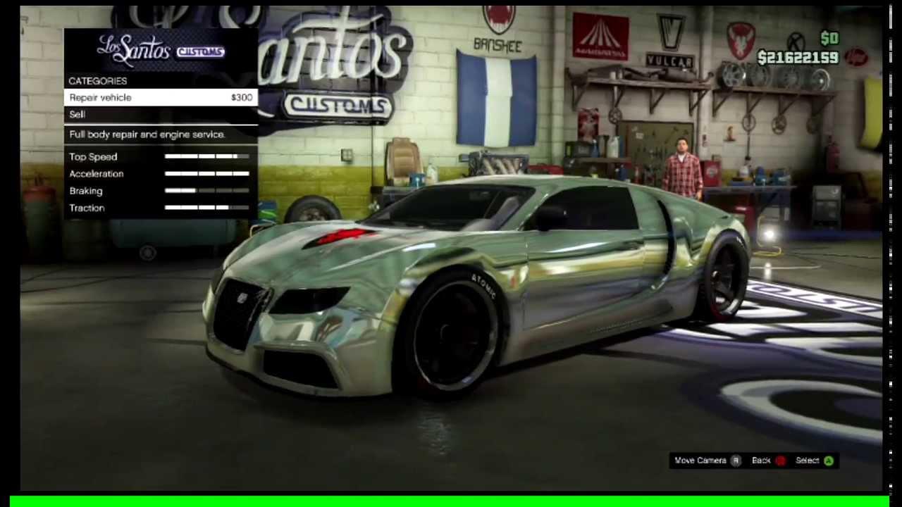 Gta Chrome Car Gta v Chrome Car Glitch
