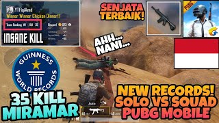 SOLO VS SQUAD PUBG MOBILE New Records Highest 35 Kills In Miramar ! PUBG MOBILE INDONESIA