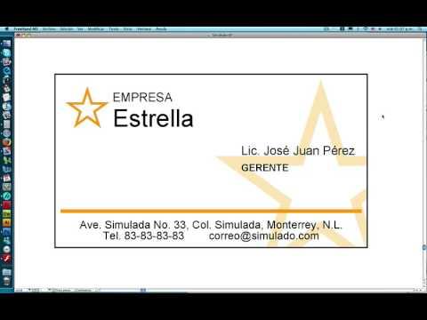 Como diseñar una tarjeta de presentacion facil y rapido - Taller ...