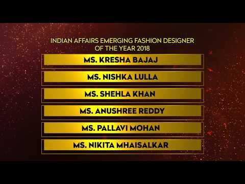 Indian Affairs Emerging Fashion Designer of the Year 2018