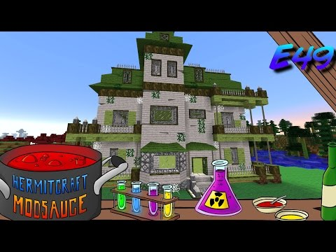 Minecraft Mods - ModSauce - HAUNTED HOUSE!!! ( Hermitcraft Modded Minecraft E49 )