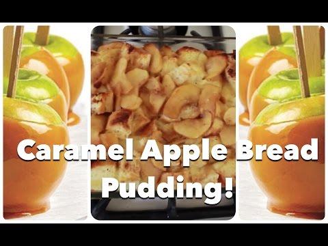 Fall Dessert: Caramel Apple Bread Pudding Recipe by CHERRY DOLLFACE